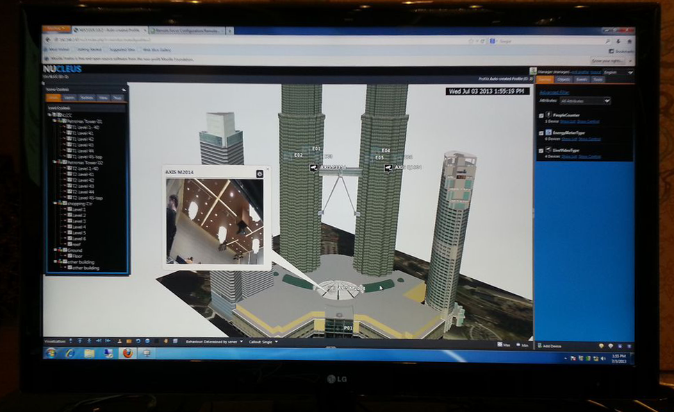 NUCLEUS showing live video feed