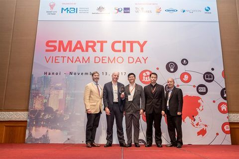 gridComm and G Element receiving Vietnam Smart City Innovation Challenge Award