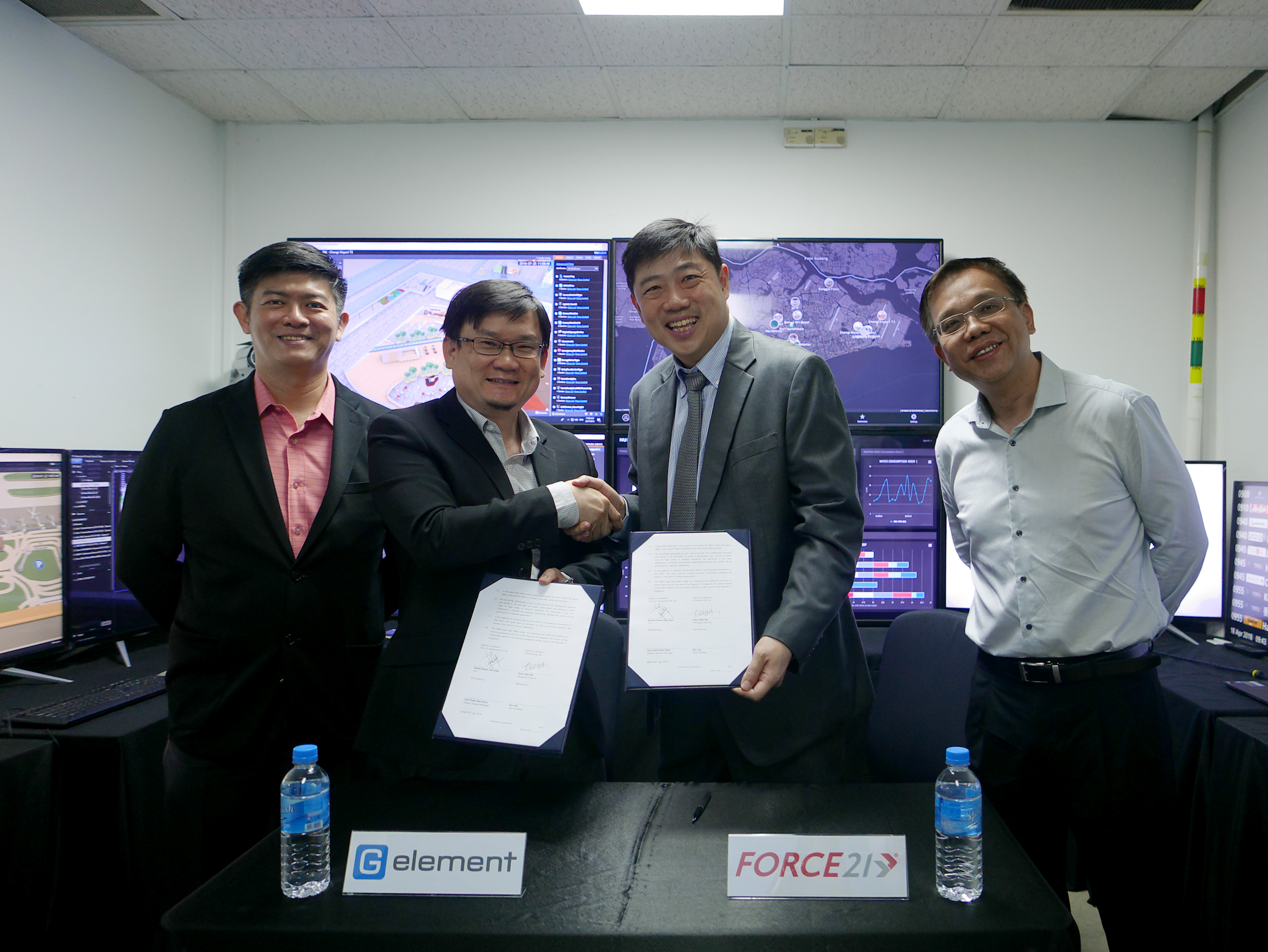 Mou Signing Ceremony between G Element and Force 21 Equipment