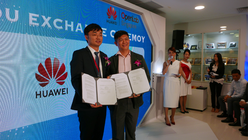 Mou Signing Ceremony between G Element and Huawei International Pte Ltd